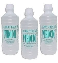 alcohol fino etilico purocol x 1 litrox 12 unidades