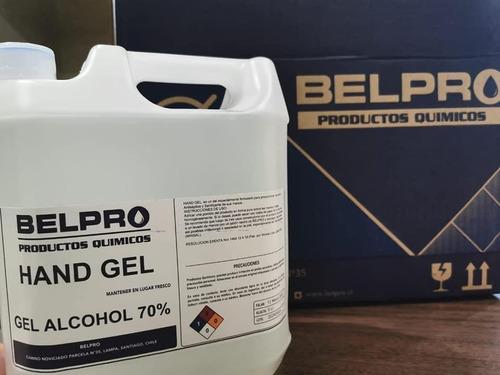 alcohol gel 70% certificado