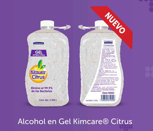 alcohol gel kimcare antibacterial galon 3.785lt sanitizante
