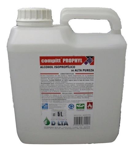 alcohol isopropilico bidon 5 litros maxima pureza delta