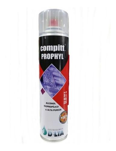 alcohol isopropilico delta compit prophyl 330cc 235g aerosol