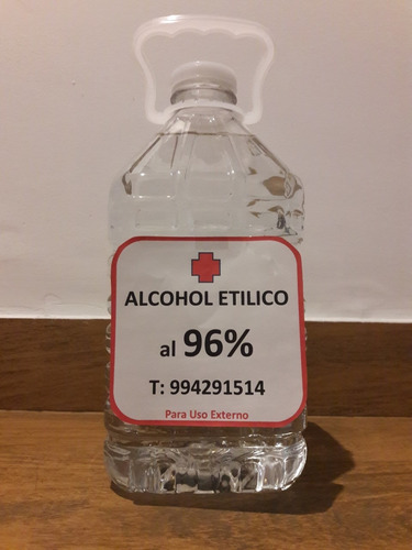 alcohol puro de 96 % x galon