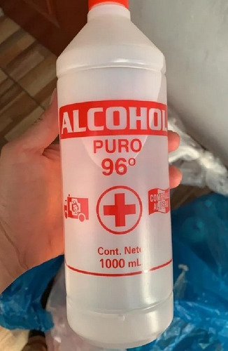 alcohol puro medicinal 96 grados solo por mayor