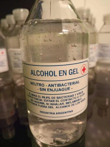 alcohol puro y alcohol en gel