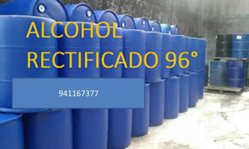 alcohol rectificado 96° por cilindro  200 litros  s/.1420