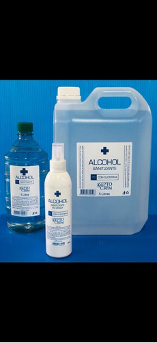 alcohol sanitizante x 5 litros en gel