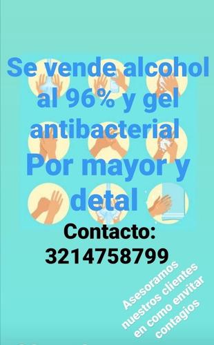 alcohol y gel antibacterial