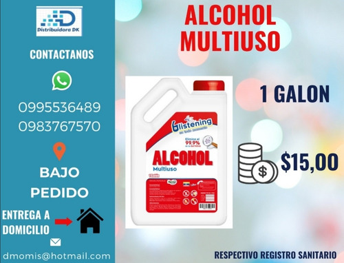 alcohol y gel antibacterial