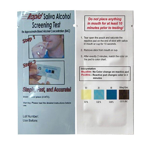 alcoholimetro o detector de alcohol en saliva