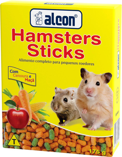 alcon hamster sticks, gerbil, esquilo e rato de laboratório