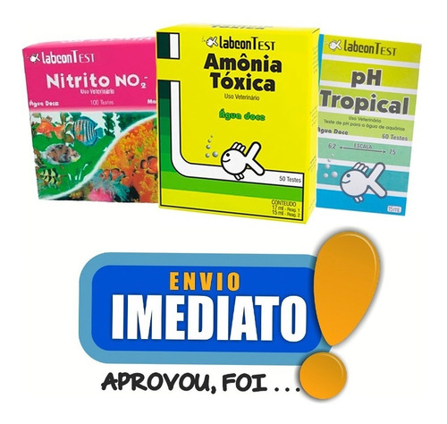 alcon kit teste para aquário doce - amonia - nitrito - ph