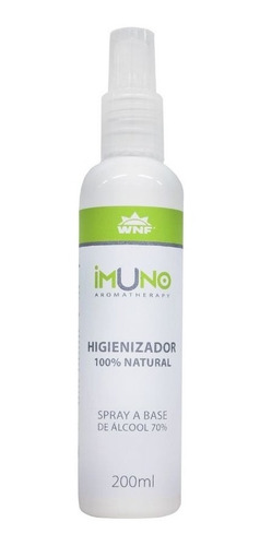 álcool 70% spray com óleos essenciais aromaterapia wnf 200ml