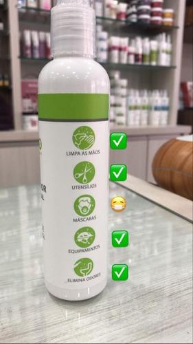 álcool 70% spray higienizador com óleo essencial wnf  200ml