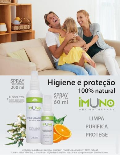 álcool 70% spray higienizador imuno 60ml para objetos
