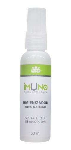 álcool 70% spray higienizador imuno wnf antisseptico 60ml