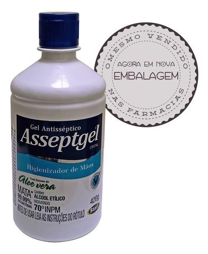 alcool em gel 70% asseptgel bactericida hidratado 500ml
