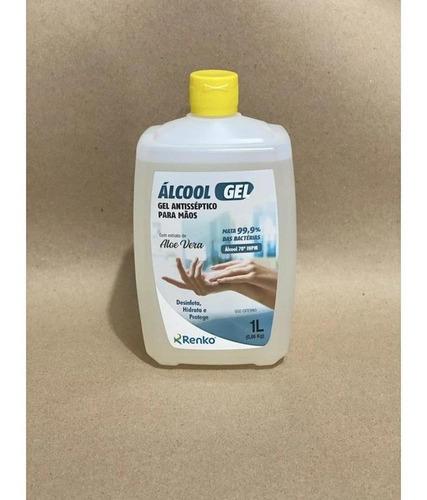 álcool em gel antisséptico para as mãos 70% renko