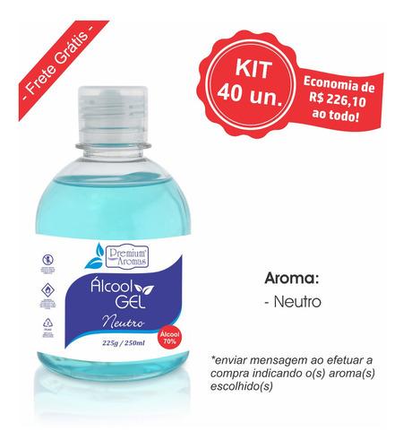 alcool gel 250ml - kit 40 unid.