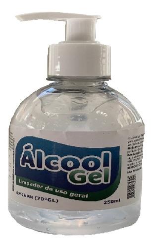 alcool gel 70 antisséptico 250ml proclean kit 5 unidades