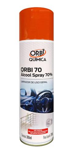 alcool spray 70% limpa higieniza ação antibacteriana 300ml