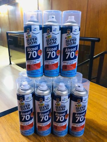 álcool spray super dom - caixa c/12 uni