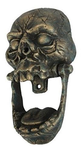 aldabas,diseño toscano knock-jaw cráneo de hierro fundid..
