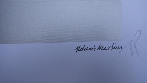 aldemir martins - galo colorido c/ fundo prata - serigrafia