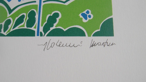aldemir martins - paisagem - serigrafia  - pequena jóia!