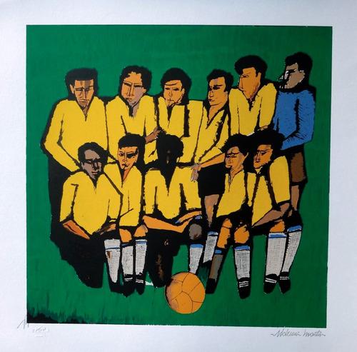 aldemir martins - seleção brasileira de 1958 - linda obra!!!