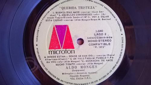 aldo monges querida tristeza vinilo 1973