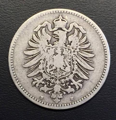 ale255 moneda alemania imperio 1 mark 1875 b f+ plata ayff