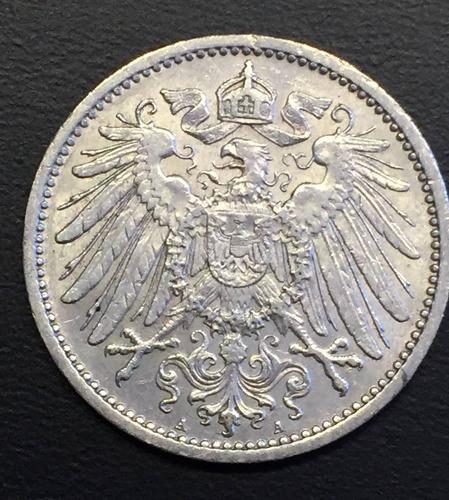 ale262 moneda alemania imperio 1 mark 1909 a xf plata ayff