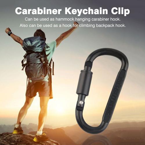 aleación de aluminio mosquetón llavero clip durable escalada