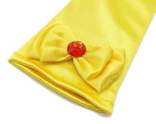 alead princess belle dress up guantes accesorios fiesta tiar