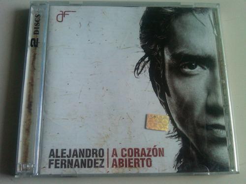 alejandro fernandez a corazon abierto cd + dvd usado