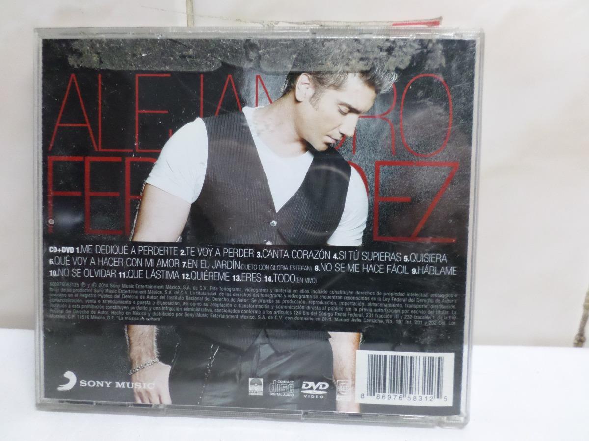 Alejandro Fernandez Mas Romantico Que Nunca Cd + Dvd Mexico - $ 260,00