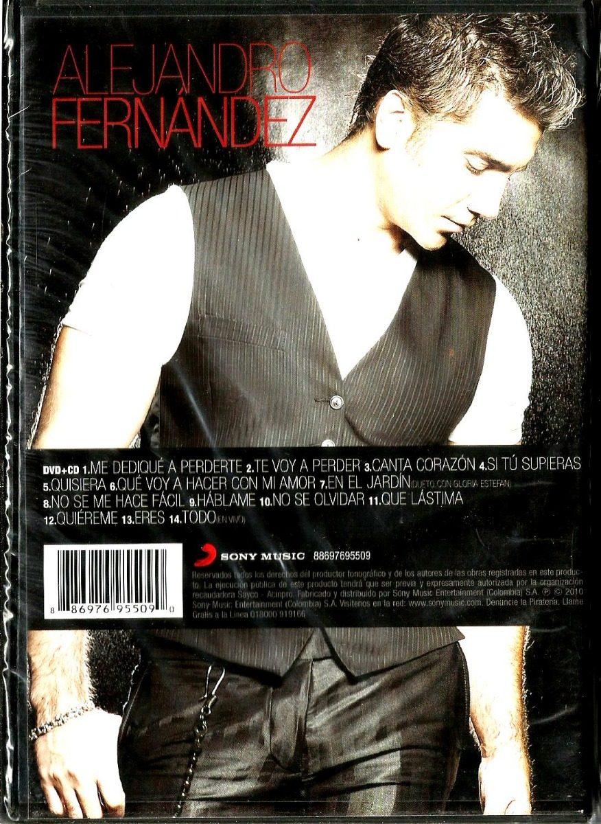 Alejandro Fernandez Mas Romantico Que Nunca Dvd + Cd Nuevo
