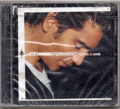 alejandro fernández. viento a favor. cd original nuevo