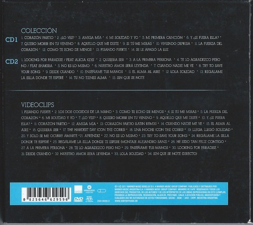 alejandro sanz 2 cd´s + 1 dvd coleccion definitiva digipack