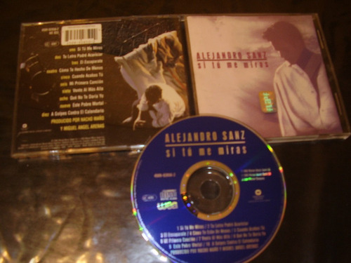 alejandro sanz - si tu me miras - cd original usado