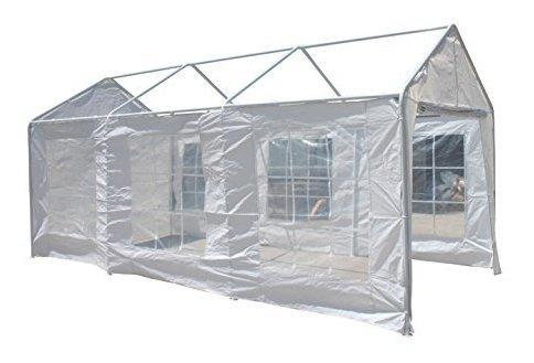 aleko cp1020caravana canopy paredes de polietileno white pa