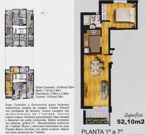 alem 1200 - venta departamento un dormitorio