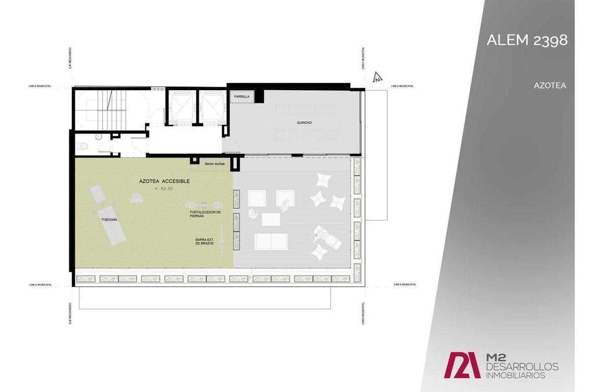 alem 2398-local comercial en esquina 23.5 m2 -republica de la sexta