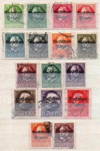 alemanha - bavária - king ludwig iii - 1919 - volksstaat