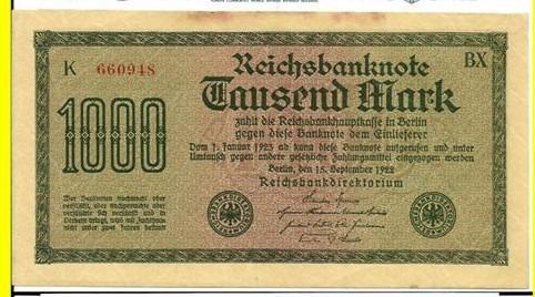 alemanha: bela cédula de 1000 mark  1922 s/fe