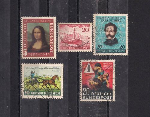 alemanha - conjunto de selos comemorativos - 1952 e 1953!!