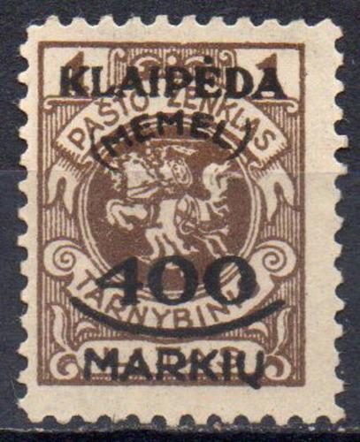 alemanha - klaipéda - brasão de armas - 1923 - mi 128
