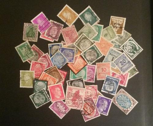 alemanha - lote com 50 selos diferentes do reich