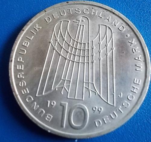 alemanha-moeda prata-10 mark-1999-50 anos- s.o.s.peso 15,6 g