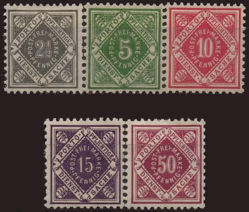 alemanha - wurttemberg - algarismos - 1919